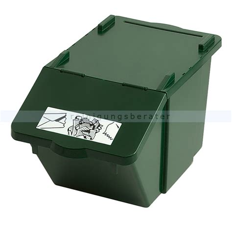 L Recycle Boxes by M 252 Lleimer Recycling Box Mit Deckel Gr 252 N 45 L