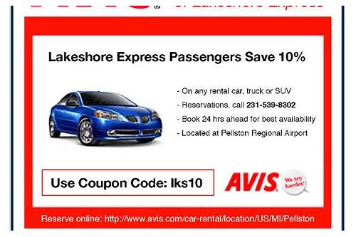 car rental coupons