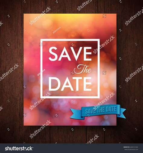 save the date text template eyecatching bold simple save date template stock vector