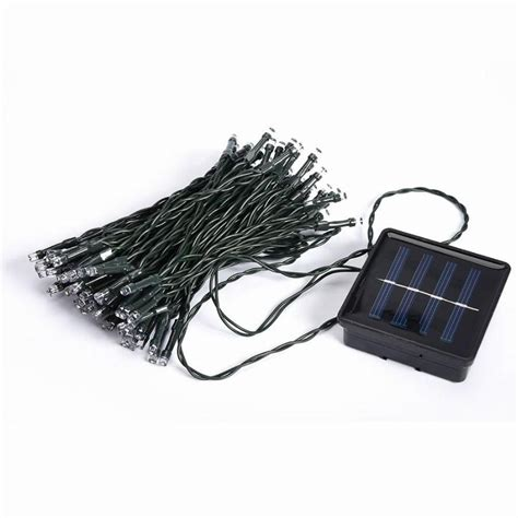 Outdoor Solar Panel Powered Light 10m 50 Led Automatic Solar Panel String Lights