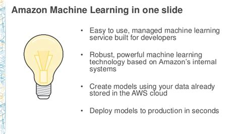 amazon machine learning bdt302 real world smart applications with amazon machine