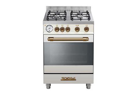 tecnogas cucine catalogo deco60m4cb deco60m4 crema opaco gas elettrico stile