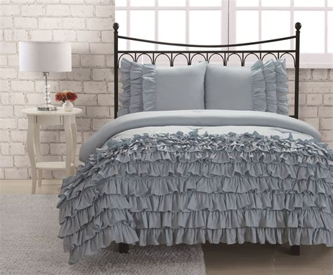 twin ruffle comforter twin miley mini ruffle comforter set blue college