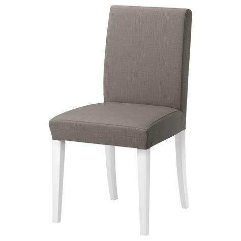 henriksdal stuhl henriksdal chair white nolhaga grey beige ikea