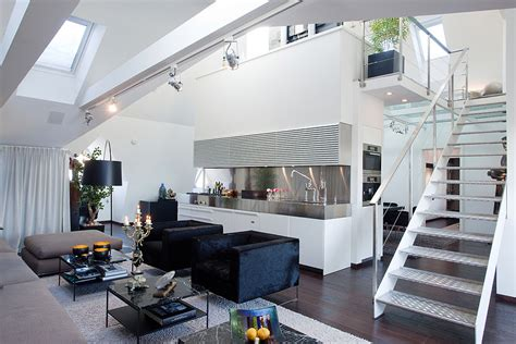 cool apartment ideas modern penthouse with skylights idesignarch interior