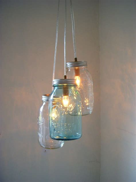 Mason Jar Chandelier Hanging Mason Jar Pendant Lighting Jars Light Fixture