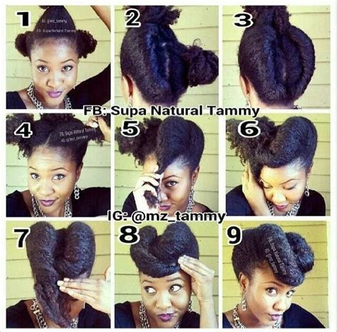 diy hairstyles for transitioning hair natural hair easy updo protective styles for