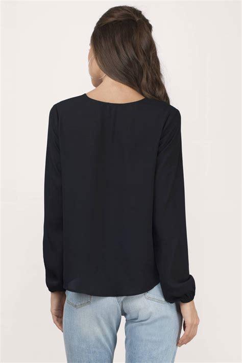 Blouse Black Square black blouse black blouse sleeve blouse 12 00