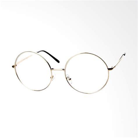 Promo Frame Kacamata Fashion Korea Wanita Pria Gold Jb343f jual oem bulat korea kacamata transparent frame gold