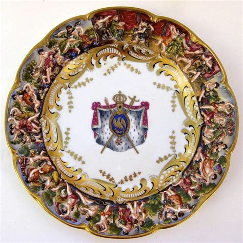 Capodimonte Set 3 set of three 3 capodimonte bas relief plates 10 quot from blacktulip on ruby