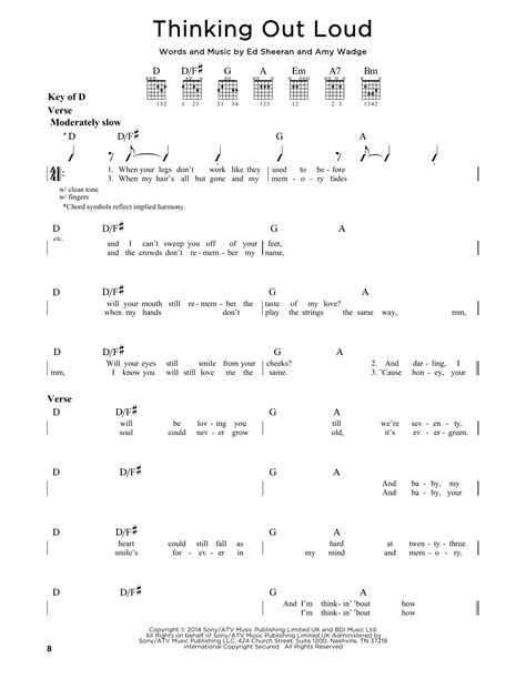 thinking out loud ed sheeran easy guitar tutorial chords youtube thinking out loud by ed sheeran guitar lead sheet