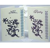 Handmade Greetings Card Using Stampin' Up Flourish