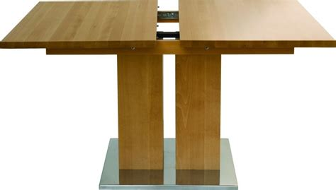 table bois massif design et grande rallonge md1 160 x 90 cm