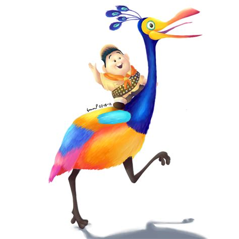 film up bird russell and kevin up pinterest disney pixar