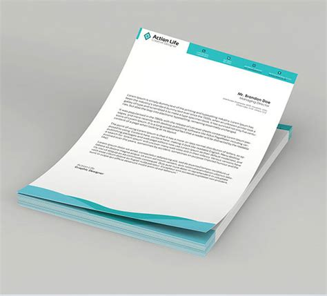 business letterhead design vector 15 free vector psd company letter design template