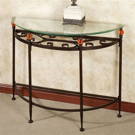 metal and glass sofa table adele metal and glass console table