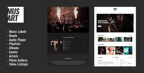 wordpress themes free music artists musart music label and artists wordpress theme download