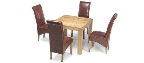 cube dining table and chairs cube oak 90 cm dining table and 4 chairs quercus living