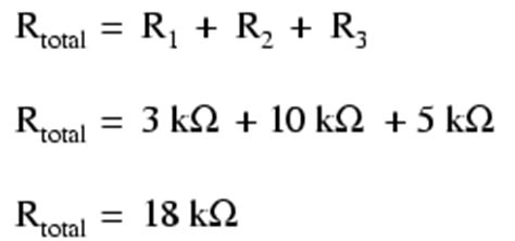 the formula for calculating the total resistance in a series circuit with three resistors is simple series circuits series and parallel circuits electronics textbook