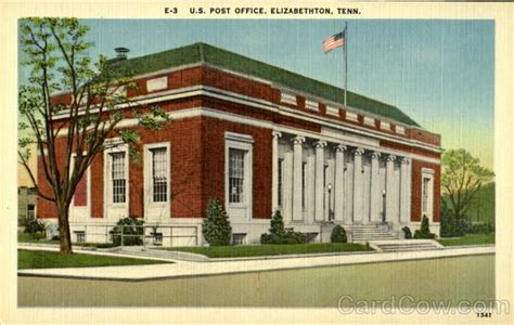 Watauga Post Office by U S Post Office Elizabethton Tenn Tennessee