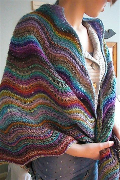 feather wool knitting patterns noro yarn feather and fan wrap gorgeous