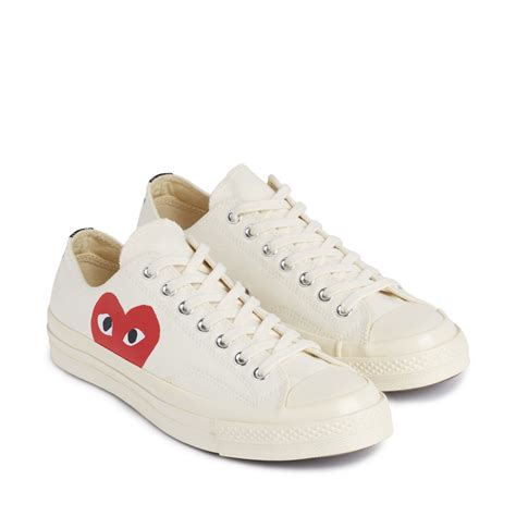 Converse 1970s Cdg Play Low Black White play converse chuck all 70 low white