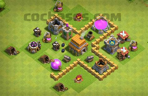 layout for town hall 3 top 14 best town hall 3 war base farming trophy