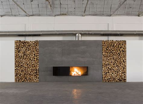 fireplace designs with firewood organizer by antonio lupi