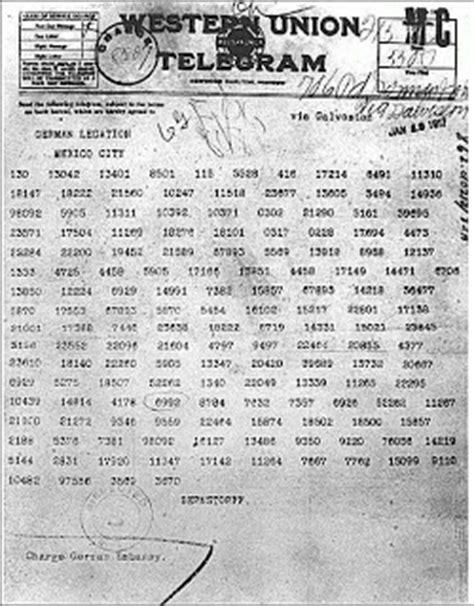 First World War.: Zimmerman Telegram