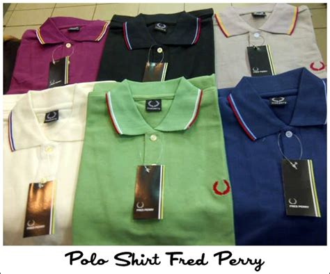 Harga Kaos Merk Fred Perry polo shirt vespa cottonbutton
