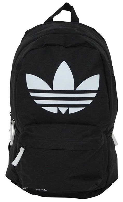 Adidas Luc Linear Logo Backpack adidas originals burns backpack bag trefoil logo black