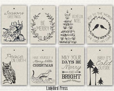 printable rustic christmas gift tags printable christmas tags rustic christmas tags woodland