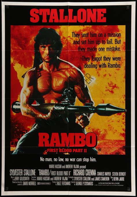 rambo film poster rambo first blood part 2 monster poster