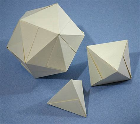 How To Make A Tetrahedron Out Of Paper - how to make platonic solids out of business cards