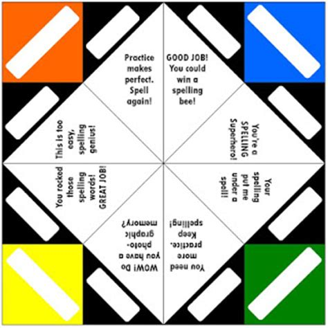 Origami Fortune Teller Sayings - origami fortune teller template