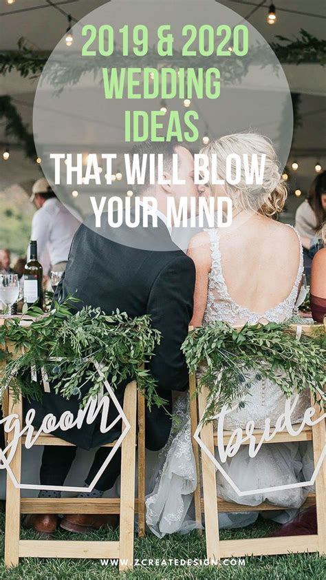 Upcoming wedding trends and wedding decor ideas for 2019