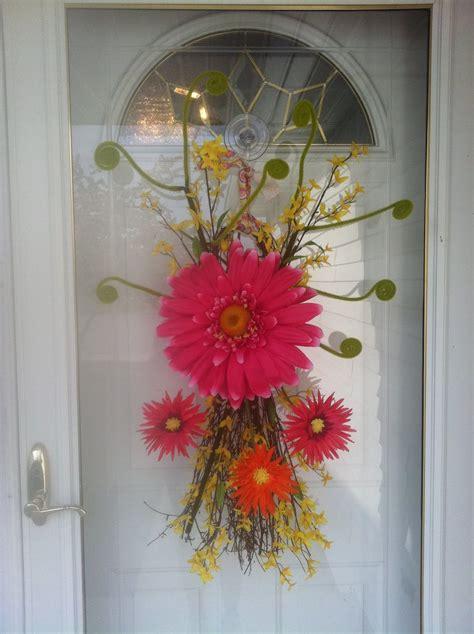 door swag diy wreath summer door wreaths wreaths