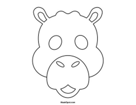 printable camel mask template printable camel mask
