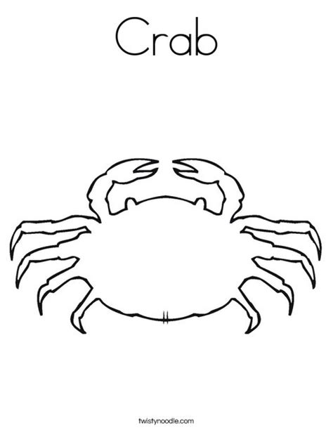 easy crab coloring page best photos of free printable crab template crab outline