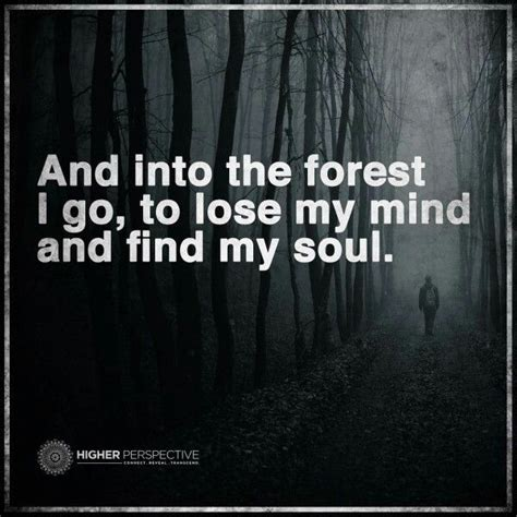 lose my mond and into the forest i go to lose my mind and find my soul