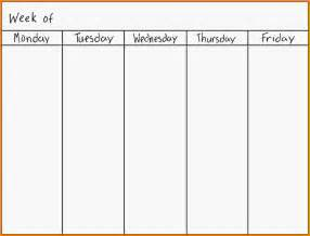 Days Of The Week Calendar Template by 11 Days Of The Week Calendar Letter Template Word