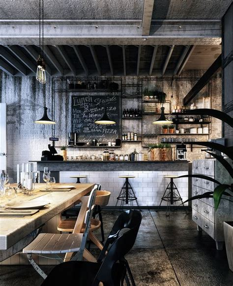 cafe negro design loft cafe bar design on behance render pinterest