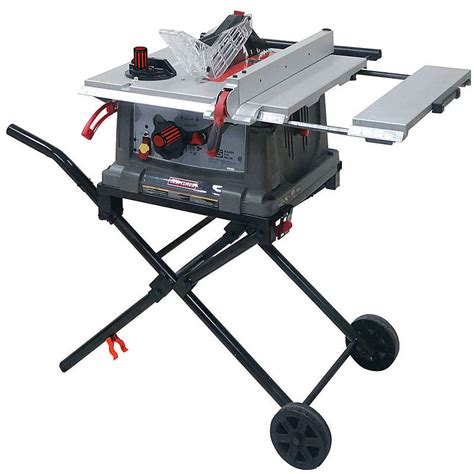 portable table saw bench craftsman jt2504rc 10 quot portable table saw sears outlet