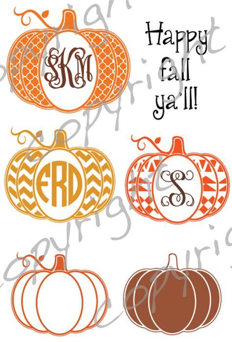 monogram pumpkin templates pumpkin cut file with place for monogram chevron aztec