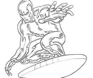 Printable Silver Surfer Character Coloring Pages 5 sketch template