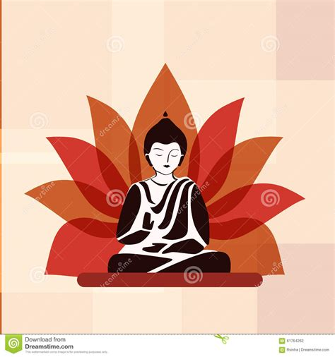a lotus for you a buddha to be buddha silhouette with lotus flower stock vector image