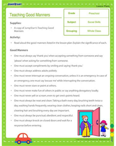 manners worksheets worksheets for all and