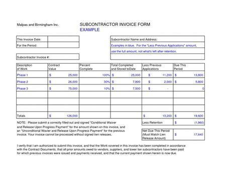 subcontractor bid form template construction estimate templates sponsorship letters exles
