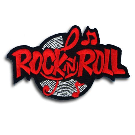 What Is Rock And Roll What Was rock n roll patch iron on rock biker vest rider