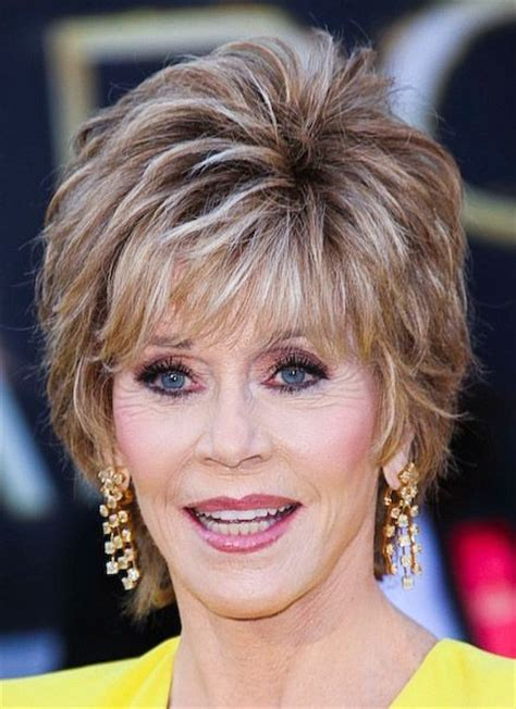 jane fonda hairs styles with cutting instructions favorite actor and funny celebrities pinterest